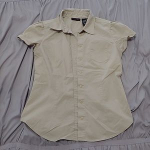 New York&co cream colored button down blouse